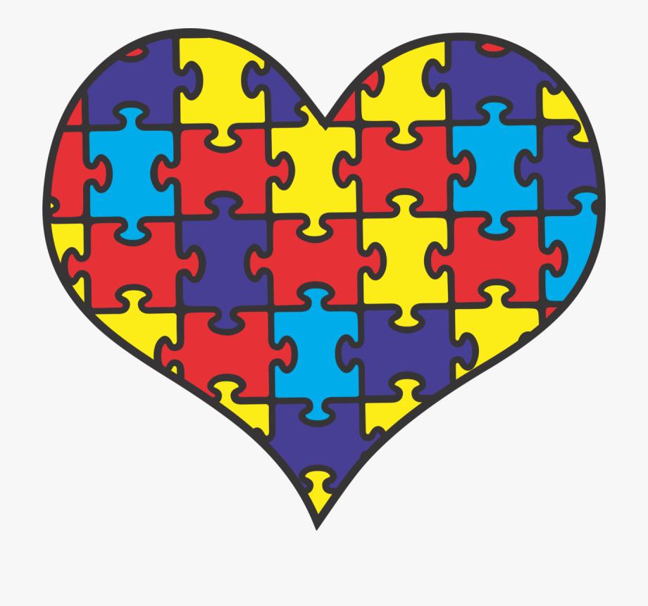 Autism clipart autism heart. Png puzzle piece free