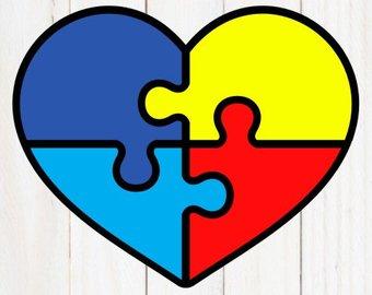 Autism clipart autism heart. Svg etsy