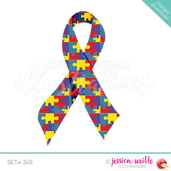 Autism clipart autism ribbon. Awareness cute digital clip