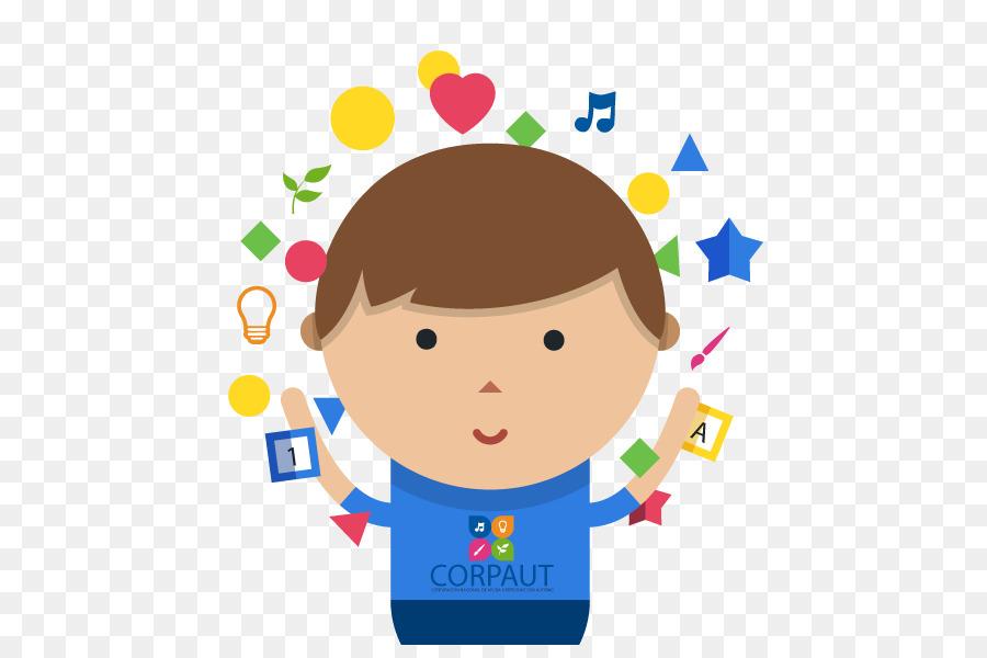 Happy kids day . Autism clipart autistic boy