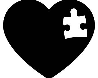 Wmu etsy awareness bumper. Autism clipart black and white