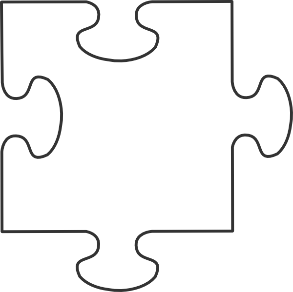 Large blank pieces white. Number 4 clipart number puzzle
