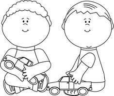 autism clipart black and white