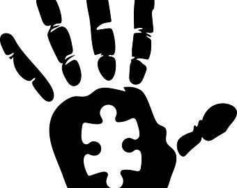 Download for free png. Autism clipart black and white