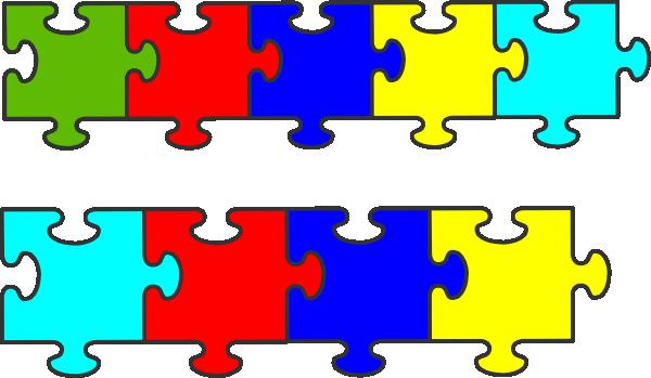 Autism clipart border. Puzzle piece clip art