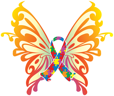 Autism clipart butterfly. Free clipartmansion com gallery