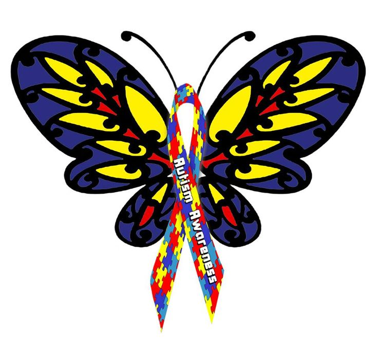 best designs images. Autism clipart butterfly