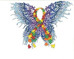 Autism clipart butterfly.