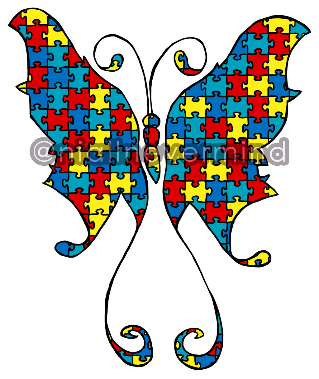 autism clipart butterfly