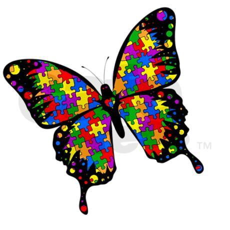 Free download clip art. Autism clipart butterfly