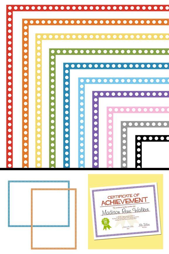 Autism clipart colourful border.  best for teachers