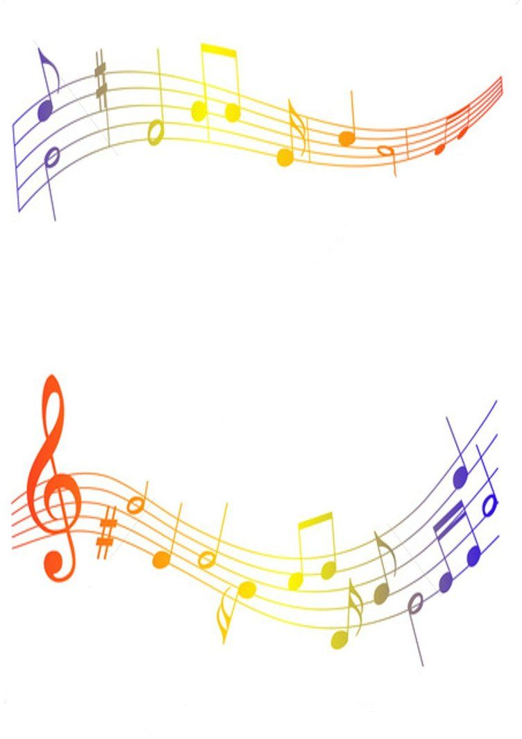 Coloured musical notes by. Autism clipart colourful border