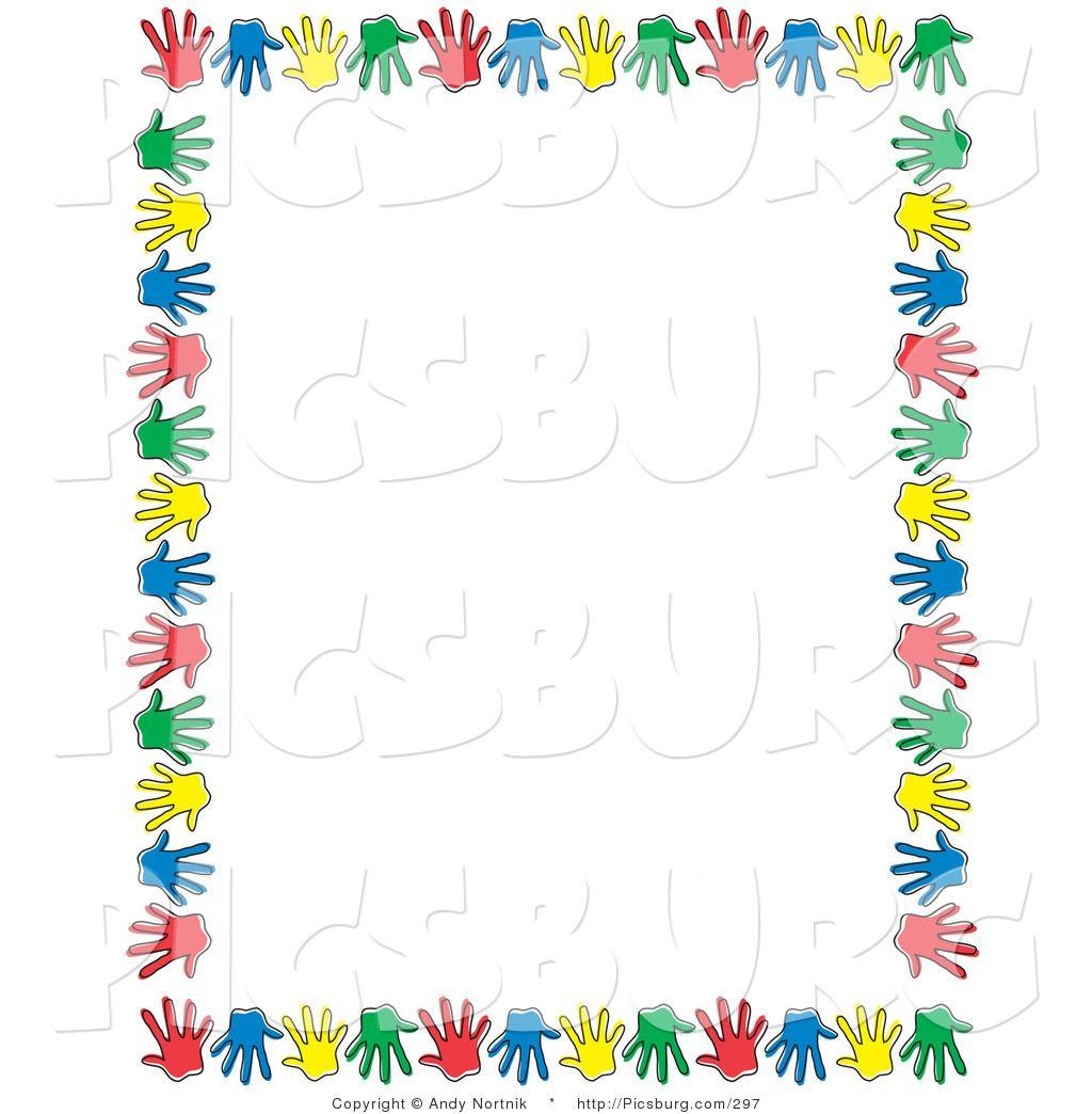 Autism clipart colourful border. Free clip art borders