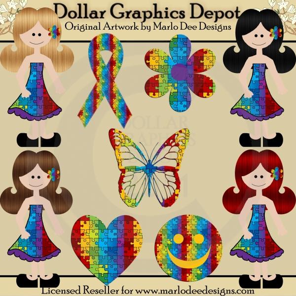 Autism clipart cultural awareness. Girls clip art dollar