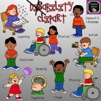 Autism clipart cultural awareness. This disability set includes