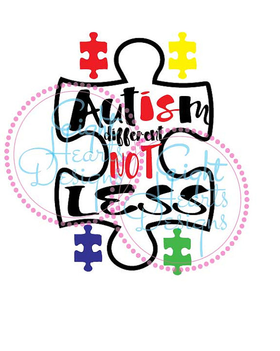 Is motovational donation craft. Autism clipart different not less