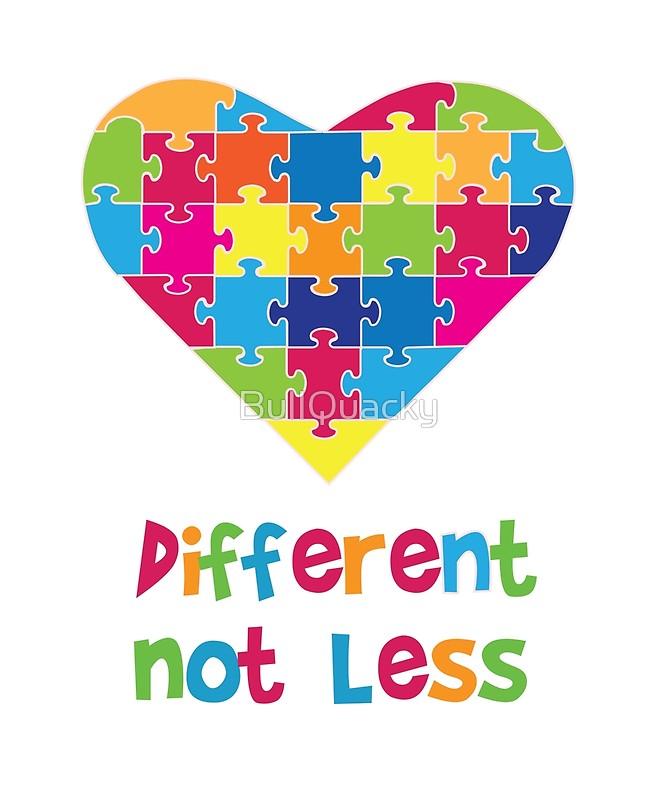 Autism clipart different not less. Awareness t shirt kids