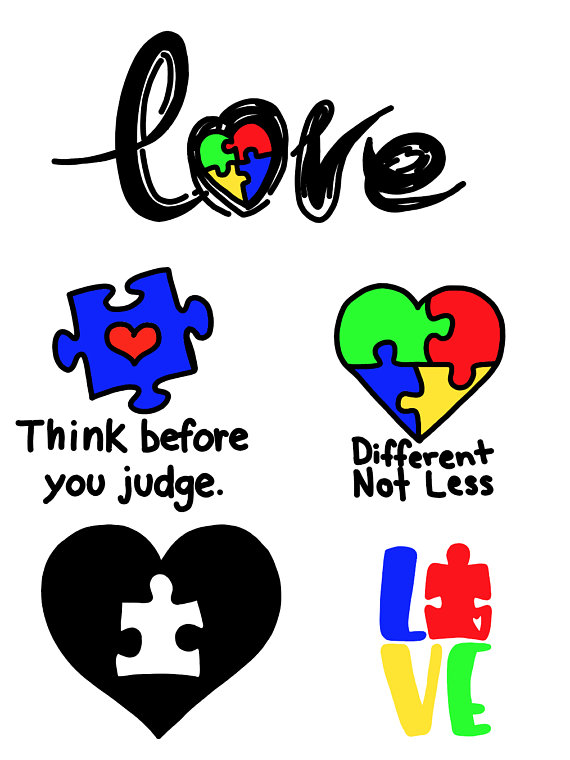 Autism clipart different not less. Awareness love puzzle piece