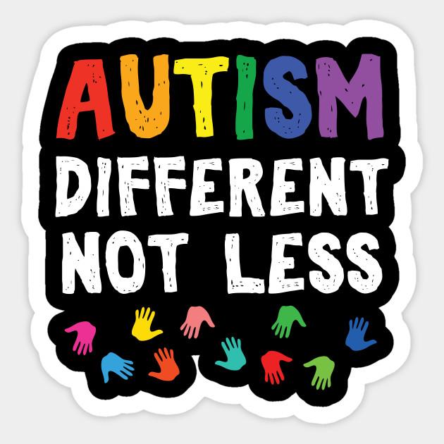 Autism clipart different not less.