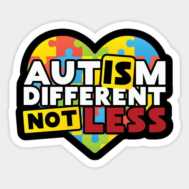 . Autism clipart different not less