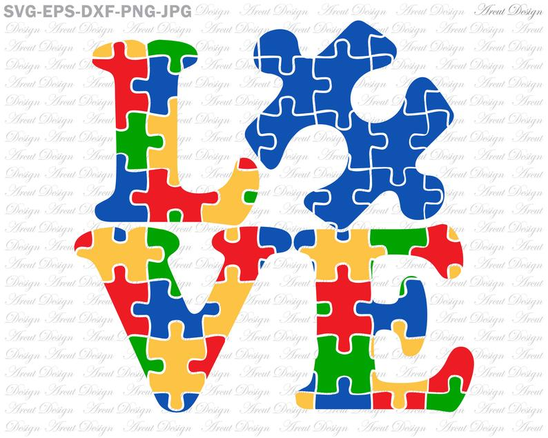 Autism clipart file. Love svg files for