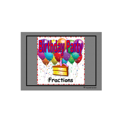 Autism clipart happy birthday. Teacher resources fractions party