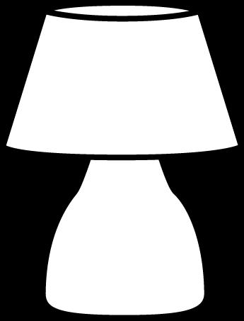 Lamp clipart black and white. Objects nesneler pinterest clip
