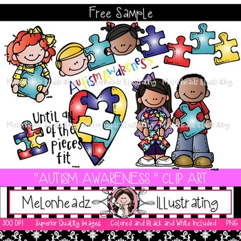 Awareness clip art freebie. Autism clipart melonheadz