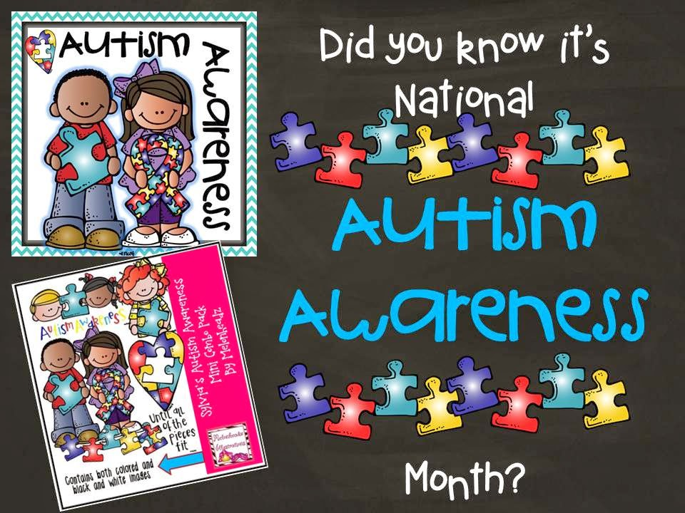 National awareness month. Autism clipart melonheadz