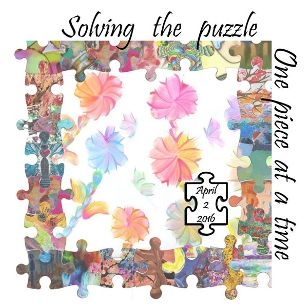 Autism clipart one piece at time. Sugar artists for satin