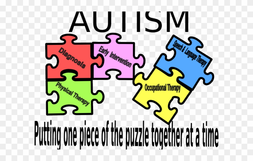 Autism clipart one piece at time. Puzzle logo png download
