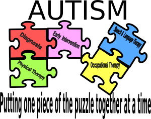 Spectrum awareness kids helping. Autism clipart one piece at time