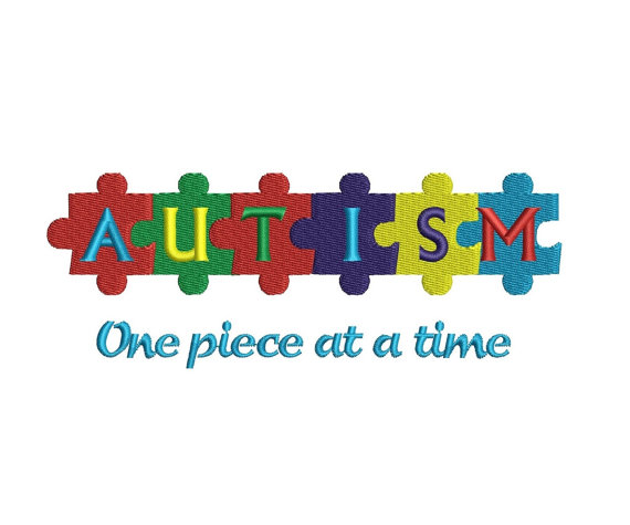 Autism clipart one piece at time. Awareness of the machine