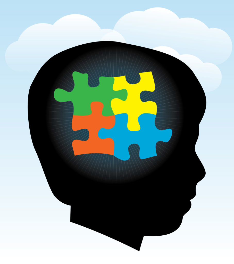 A look the puzzle. Autism clipart one piece at time