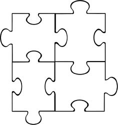 Autism clipart outline. Puzzle piece template awareness