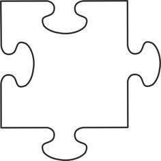 Puzzle piece template awareness. Autism clipart outline