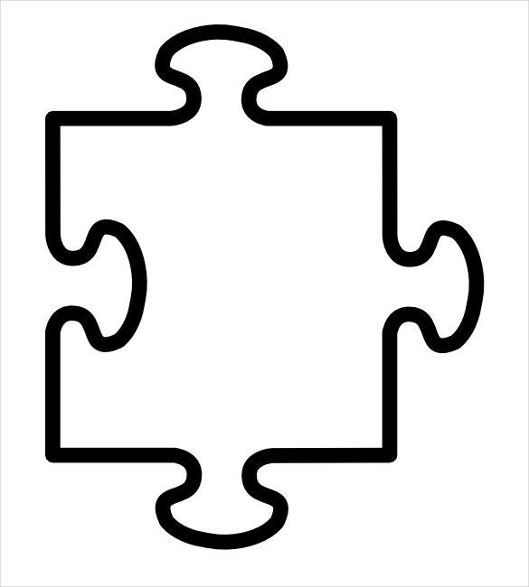 Puzzle piece template incep. Autism clipart outline