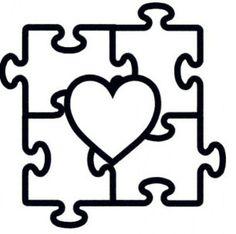 Autism clipart outline. Printable puzzle pieces template