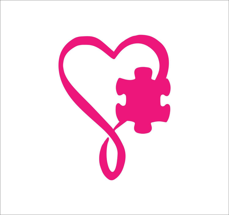 Autism clipart pink. Awareness decal puzzle piece