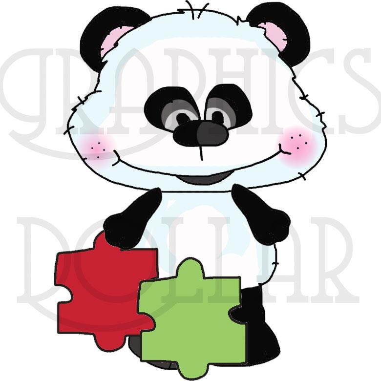 Bestie bears clip art. Autism clipart pink