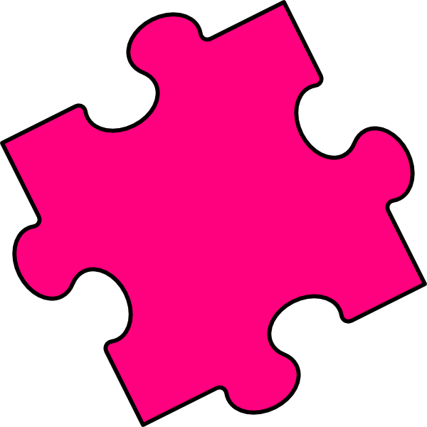 Pink piece clip art. Puzzle clipart animated