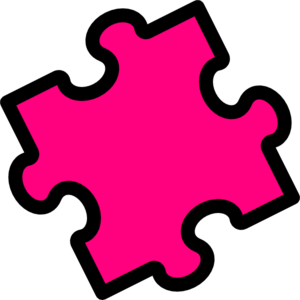 Autism clipart pink. Puzzle piece clip art