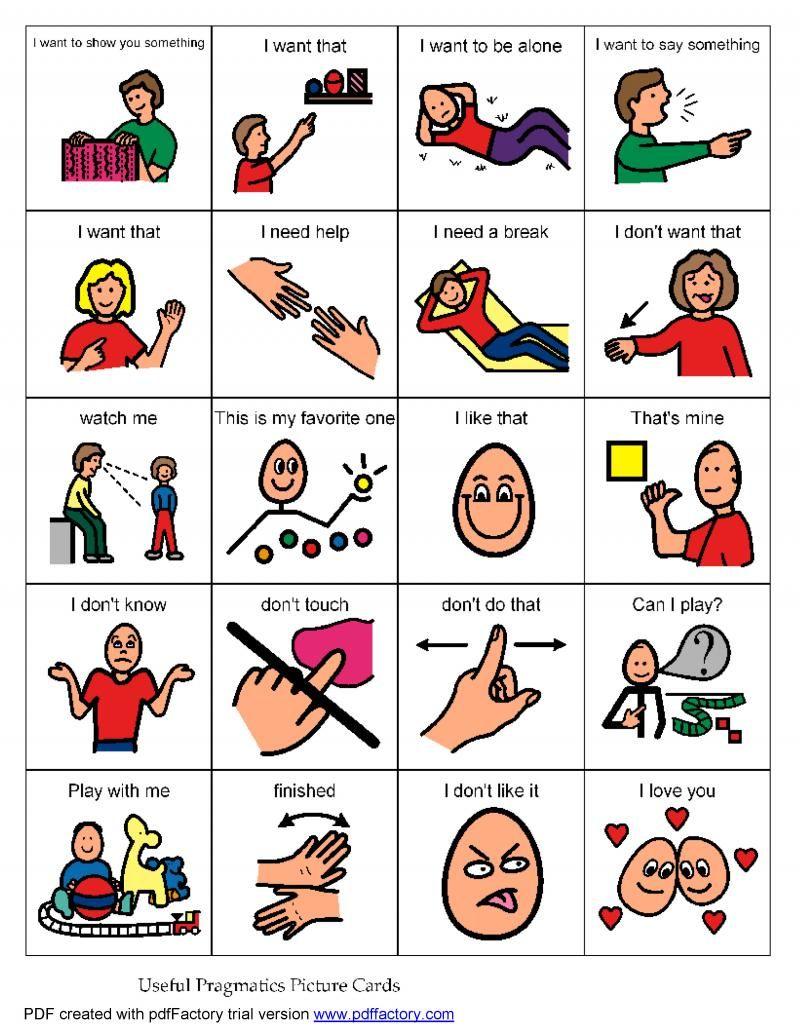 Autism clipart poor communication. Pragmatic language board low