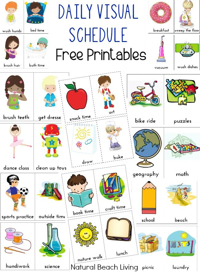 Chart clipart daily. Visual schedule for kids