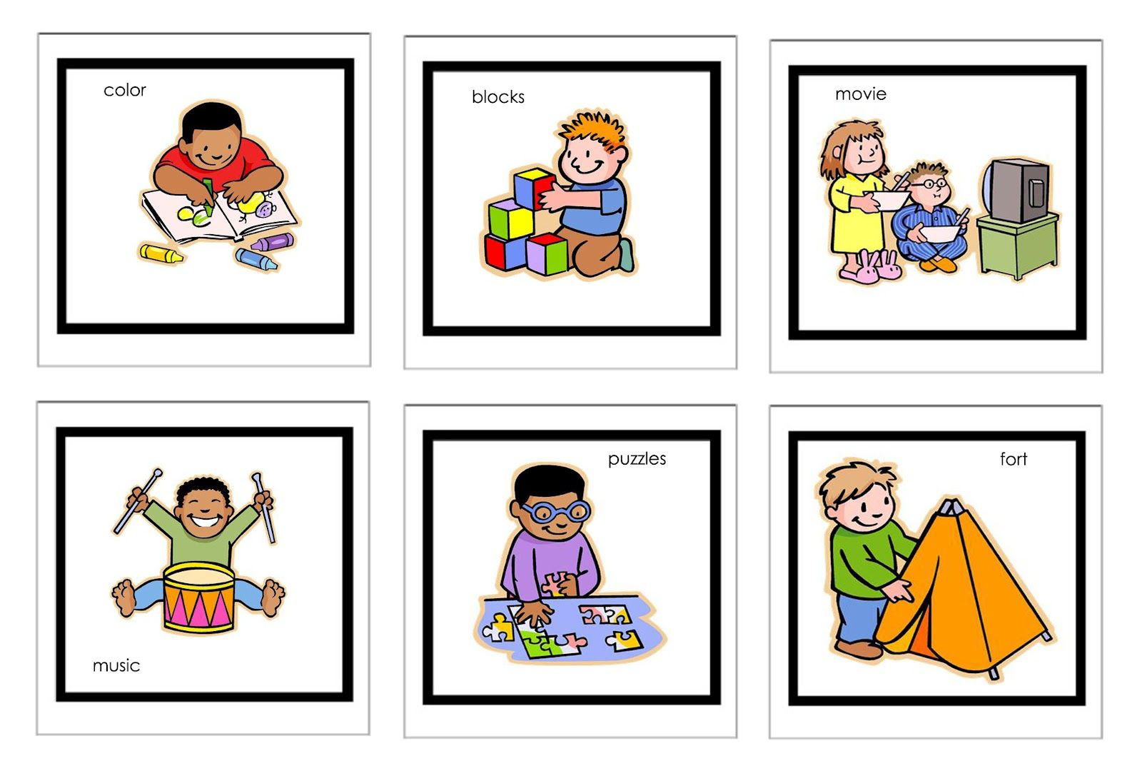 Autism clipart printable. Picture cards for nonverbal
