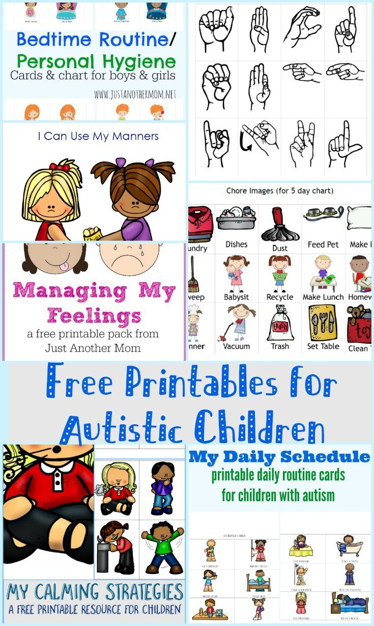 Free printables for autistic. Autism clipart printable