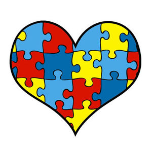 Lot awareness heart temporary. Autism clipart puzzle piece