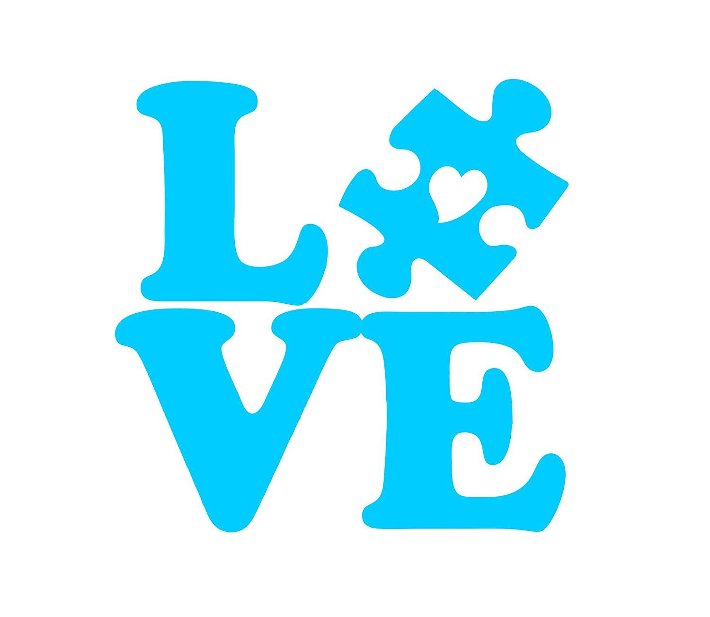 Amazon com awareness love. Autism clipart puzzle piece