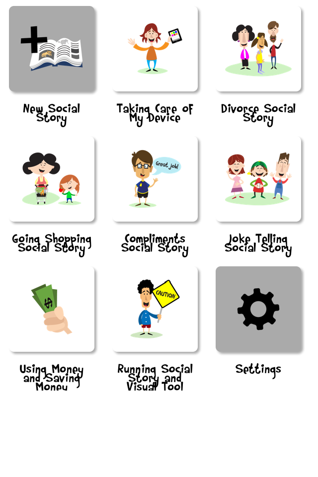 Free story creator app. Autism clipart social acceptance