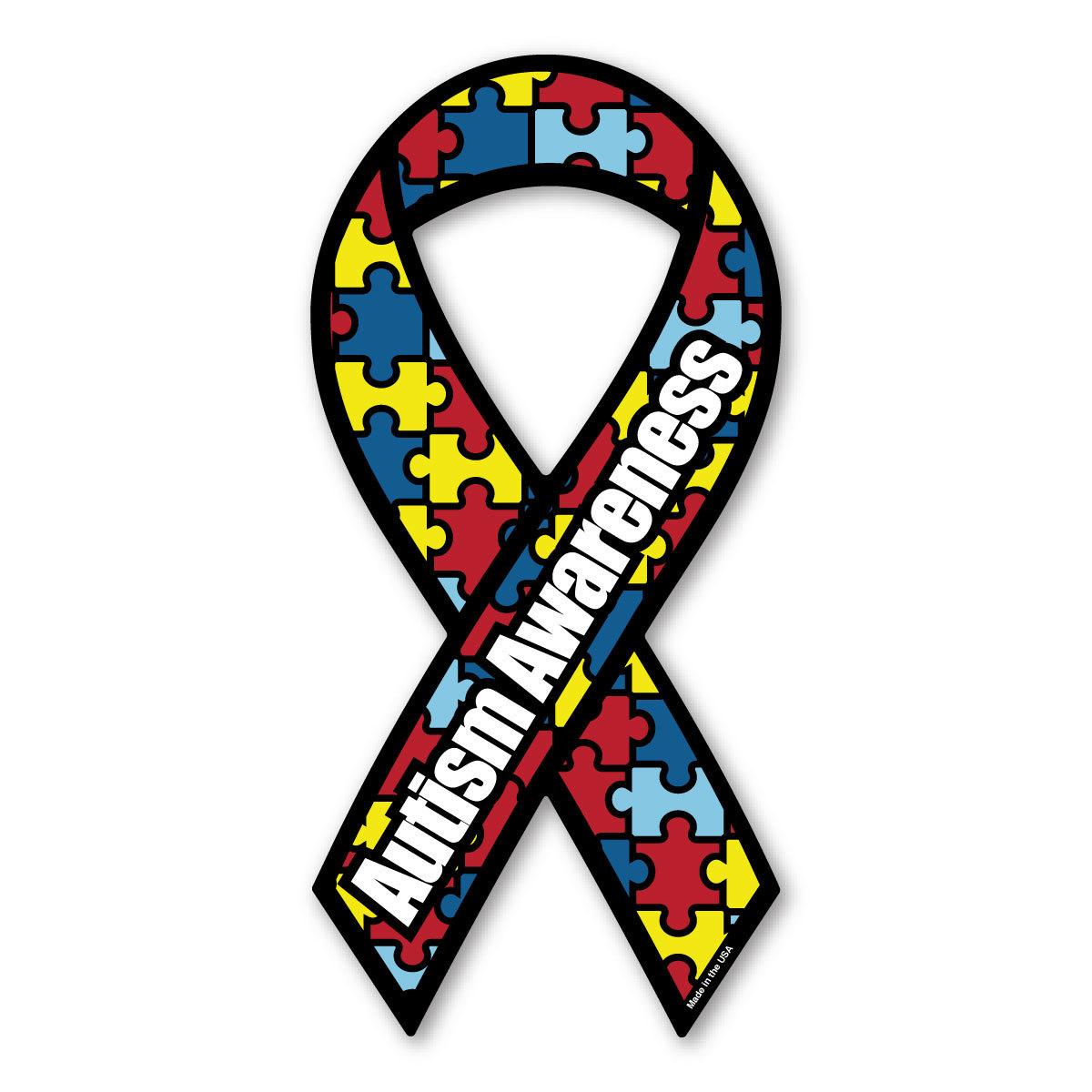 Autism clipart social awareness. Ribbon magnet